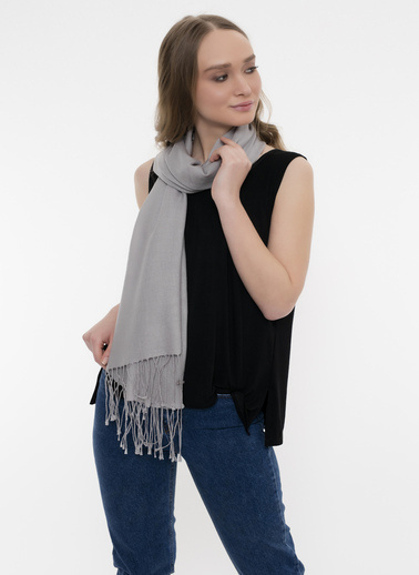Silk and Cashmere Şal Gri